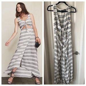 Reformation Kai Maxi Wrap Dress Sz medium